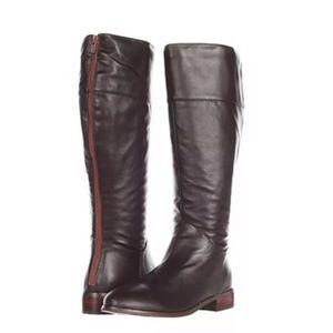 Type Z Dark Brown Leather Fashion Knee High Boots